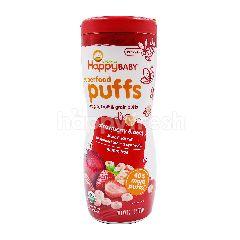 Organics Happy Baby Superfood Puffs Veggie, Fruit & Grain Puffs (Strawberry & Beet)
