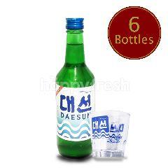 Daesun Soju 6 Bottles Get 3 FREE Soju Shot Glasses