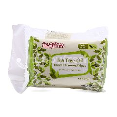 Lady First Tea Tree Oil Facial Cleansing Wipes (3 Packets)