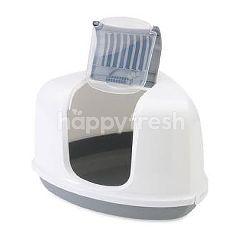 Savic Nestor Corner Litter Pan (White / Grey)