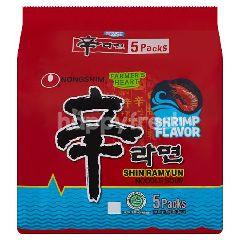 Nongshim Shin Ramyun Noodle Soup Shrimp Flavour (5 Pieces)