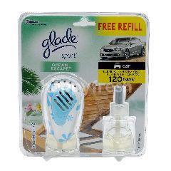 Glade Car Air Freshener - Sport - Ocean Escape