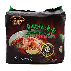 Red Chef Green Tom Yum Soup Instant Noodles (4 Packs)