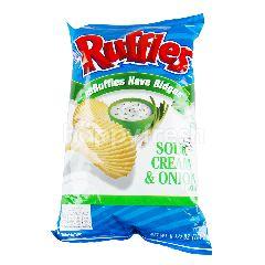 รัฟเฟิลส์ มันฝรั่ง รสซาวด์ครีม & หัวหอม