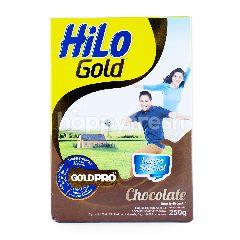 HiLo Gold Susu Bubuk Tinggi Kalsium Kurang Lemak Rasa Cokelat 51 Tahun