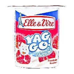 Elle & Vire Yaggo Yogurt Rasa Raspberi