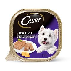 Cesar Dog Food Adult Chicken & Cheese 100G Dog Wet Food