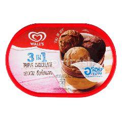 วอลล์  3 อิน 1 ไอศกรีม ทริปเปิล ช็อกโกแลต