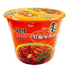 Unif Red Cookied Tub Noodle