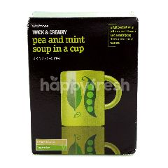 Waitrose Thick & Creamy Pea And Mint Soup In A Cup