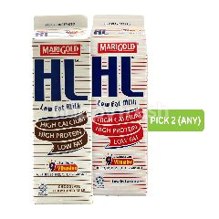 Marigold Hl Low Fat Milk 1L and Hl Chocolate Milk Drink 1L (Pick Any 2)