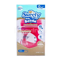 Sweety Botol Bayi Wide Neck Glass Warna Merah Muda