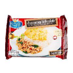 พรานไพร ข้าวผัดกระเพราหมูไข่เจียวกุ้งสับ แช่แข็ง