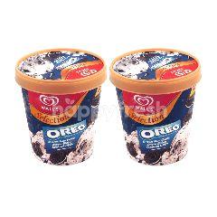 Wall's Selection Rasa Vanilla dan Oreo Biskuit Twinpack
