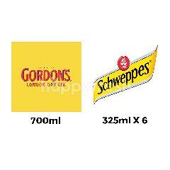 สินค้าขายยกเซ็ต กอร์ด้อนส์ จิน & ชเวปส์ โทนิค น้ำอัดลม 6 กระป๋อง
