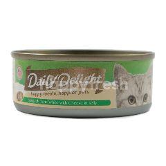 Daily Delight Makanan Kucing Jeli Ikan Cakalang dan Keju