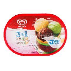 วอลล์  3 อิน 1 ไอศกรีม ทริปเปิล ดีไลท์