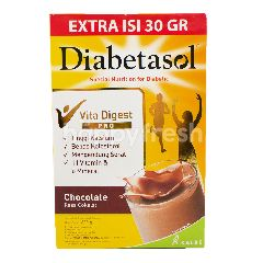 Diabetasol Susu Nutrisi Bubuk untuk Diabetes Rasa Cokelat
