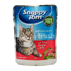 Snappy Tom Cat Food With Tuna And Shrimp In Jelly