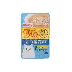 เชา รสซุปปลาทูน่า คัทสึโอะ & หอยเชลล์หน้าเนื้อสันในไก่ 40 กรัม