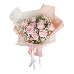 Heartis Bouquet Of 9 Pink Rose