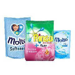 Unilever Paket Cuci Baju Rinso dan Molto 2