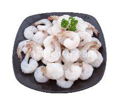 ฟู้ดไดอารี่ กุ้งขาว ปอกเปลือกผ่าหลังไว้หาง 31/40  ตัวต่อปอนด์