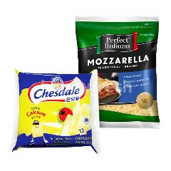 Chesdale Cheddar and Perfect Italiano Cheesy Bundle A