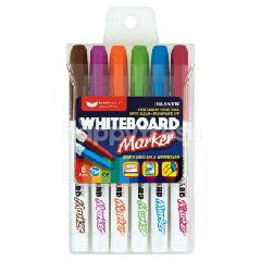 Unicorn White Board Colour Marker (6 Colours)
