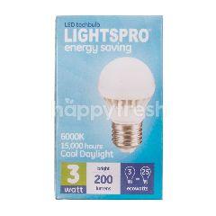 Lightspro Lampu Bohlam LED 3 watt Terang 200 lumens