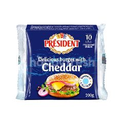President Burger With Cheddar Cheese (10 Pieces)