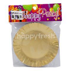 Happy Party Piring Kertas Bulat Kecil