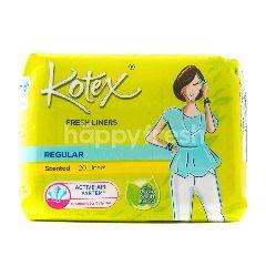 Kotex Fresh Liners Regular Scented Sanitary Pads