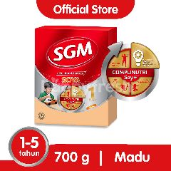 SGM Soya Eksplor Advance+ Soya 1 Plus Susu Pertumbuhan 1-5 Tahun Madu