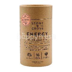 Stone & Grove Energy Olive Leaf tea With Lemongrass & Ginseng (16 Pyramid Tea Bags)
