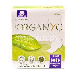 Cotton Organic Heavy Flow Night Pads (10 Pads)