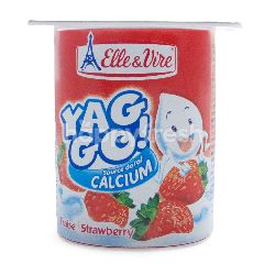 Elle & Vire Yaggo Yogurt Rasa Stroberi