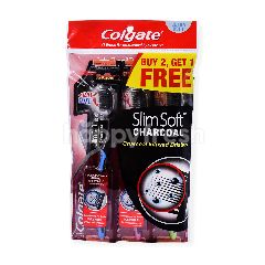 Colgate Slim Soft Charcoal Ultra Soft Tooth Brush (3 Pieces)