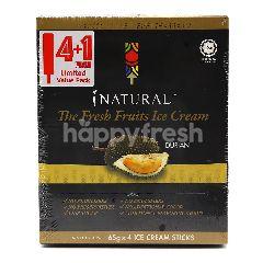 Natural Durian Ice Cream Sticks (5 Pieces)