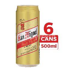San Miguel Bir Pilsener Pale 500ml (Kaleng) 6-Pack