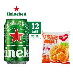 Heineken International Canned Lager Beer 12 Pack dan Belfoods Favorite Chicken Nugget