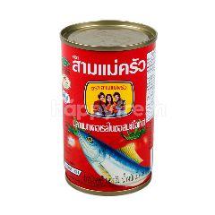 สามแม่ครัว ปลาแมคเคอเรลในซอลมะเขือเทศ