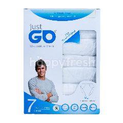 Just Go Celana Dalam Pria Sekali Pakai Warna Putih S