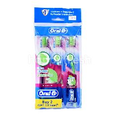 Oral-B Ultrathin Green Tea Gum Care Toothbrush (3 Pieces)