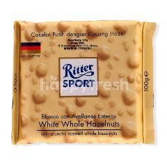 Ritter Sport Cokelat Putih Utuh dengan Kacang Hazel