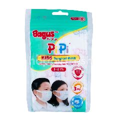 Bagus PiPi Kids Surgical Mask 5-12th 3ply (5 pieces)