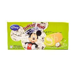 Disney Swiss Roll Coconut Pandan Flavoured