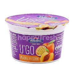 Emborg U'Go Peach & Passion Yogurt 100G