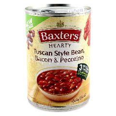 Baxters Hearty Tuscan Style Bean, Bacon & Pecorino