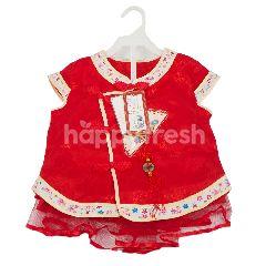Baju Setelan China Warna Merah Anak Perempuan